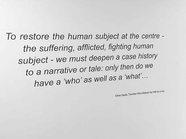 #oliversacks quote as part of our #artsinmind #exhibition in #senseofself & #braininjury for @kingsioppn @culturalkings