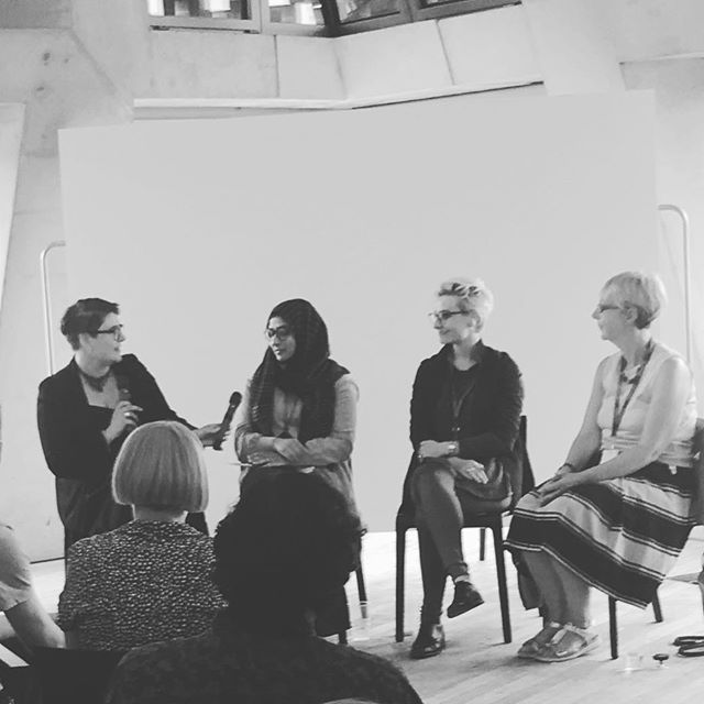 #warwicktate18 panel @tateexchange reception discuss the value of face-face engagement with visitors to their exhibition exploring themes of #truth #justice open this weekend