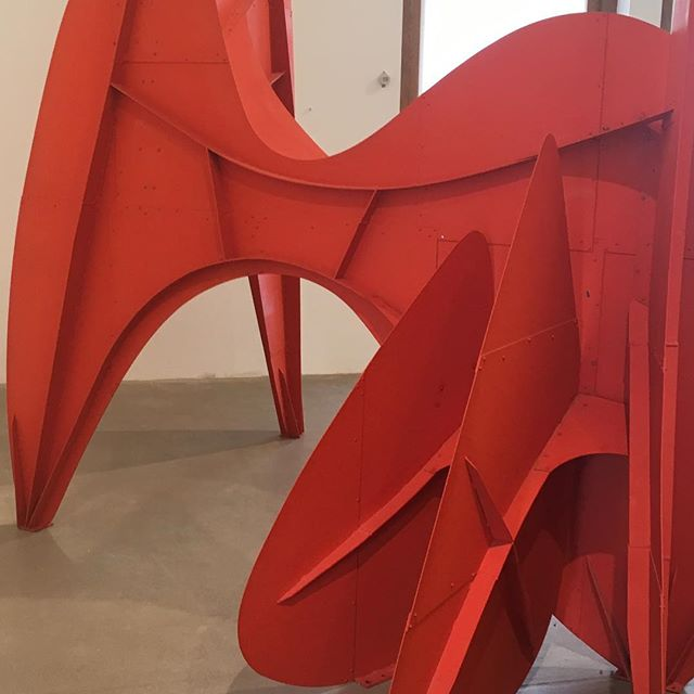 Fab day out with last week @pennymaltbymaker to see #alexandercalder exhibition @hauserwirth even if the A34 did nearly thwart our plans!