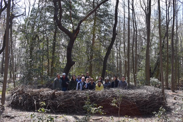 The spring migration has started! Newly cleared paths meander through the site's 12 acres of woodland. Executive Director Sheryl Swed awaitED the group near the Pepper Creek shoreline. — at  Delaware Botanic Gardens at Pepper Creek .