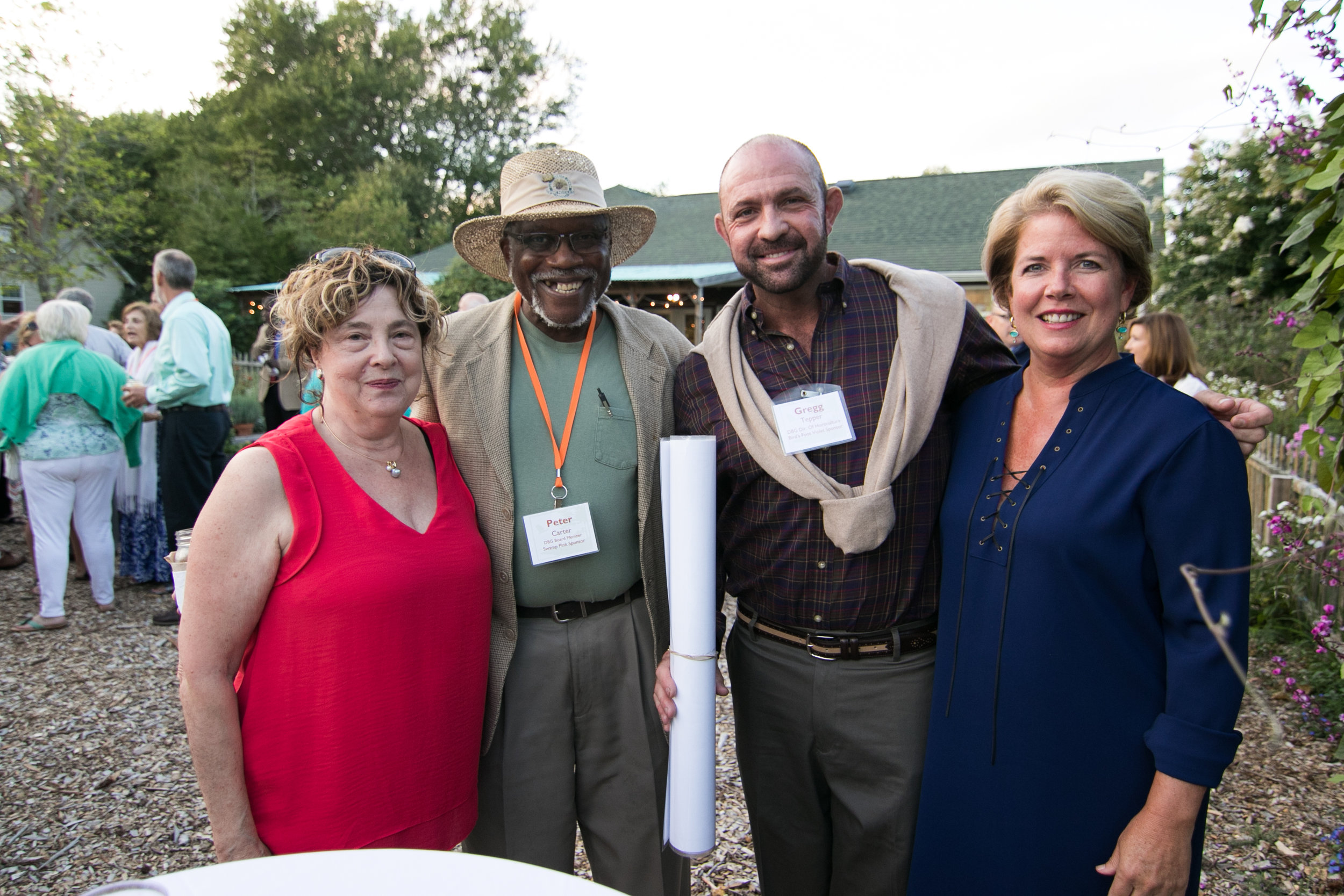 Sheryl Swed, Peter Carter, Gregg Tepper, and First Lady Carla Markell celebrated the organization's successful fundraising. Photographs by Tyler Valliant, Coastal Point