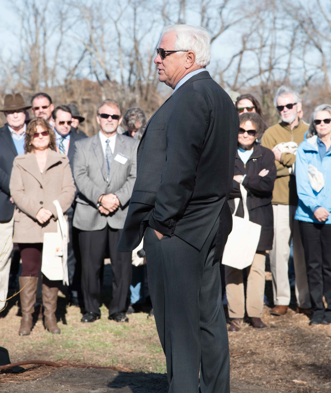 State Senator Gerald Hocker spoke at the groundbreaking. Photo by Ray Bojarski