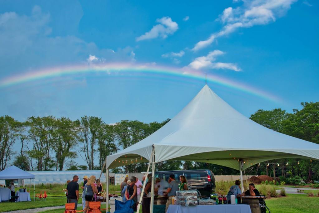 Rainbow over the Bourbon Tent