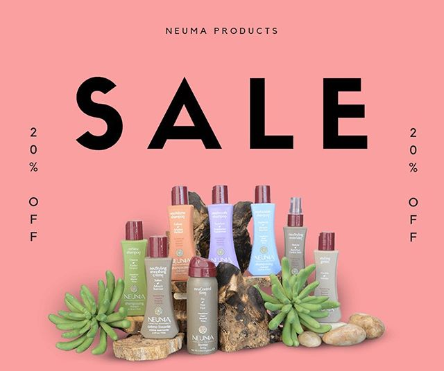 SALE!!! All of our Neuma products are 20% off! Be sure to grab your favorites while supplies last.