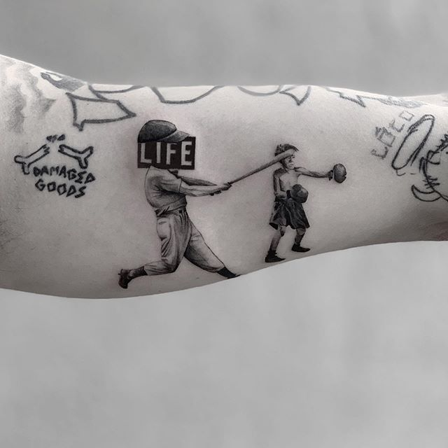 fight in the right direction bud 🌑🌑🌑 @machinegunkelly  #HotelDiablo 🔥 🏨 🌑🌑🌑 🌑🌑🌑 🌑🌑🌑 #snuffy #tattoo#tattooartist#realismtattoo #photography#tattoooftheday #minimalism#minimaltattoo #fineline #minimaltattoos#inked#tattooartist #littletattoo#retrominimal#thinline #Tattoodo#realism#nyc#brooklyn#tattooidea #contrast #contrast #minimal #art #ink #tattooing #tatuaje