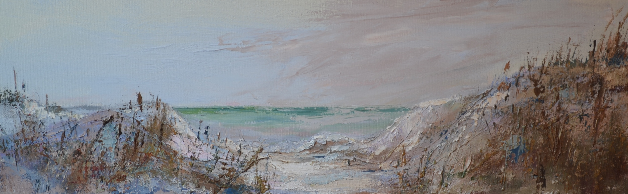 """Brown Dune"", Oil on Canvas, 12 x 36 (SOLD)"