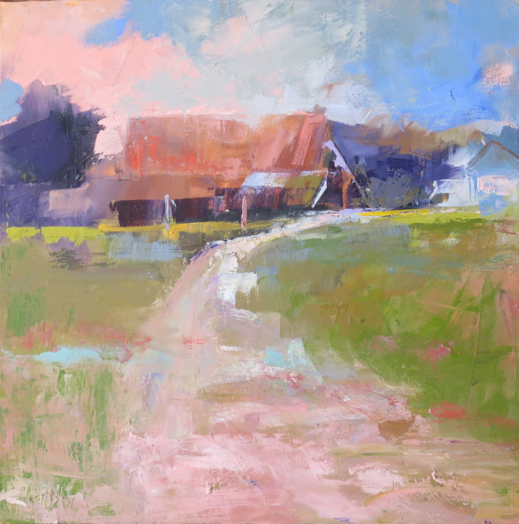 """Stowers Barn 1"", Oil on Canvas, 24x24"