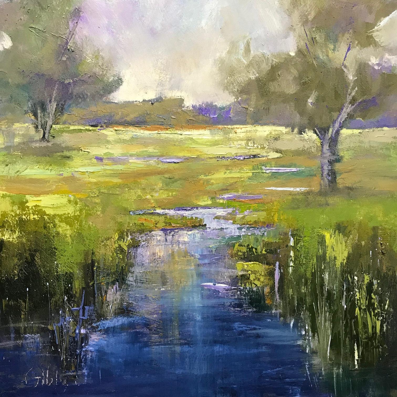 """""""Dusk"""", Oil on Canvas, 30 x 30"""