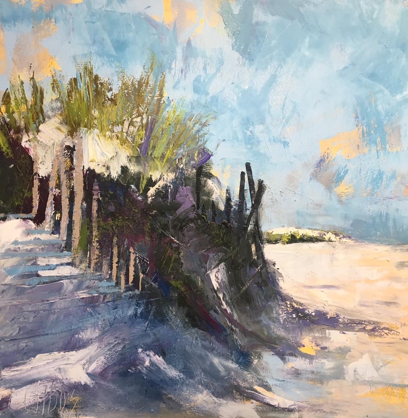 """""""Windbreak"""", Oil on Canvas, 36 X 36"""