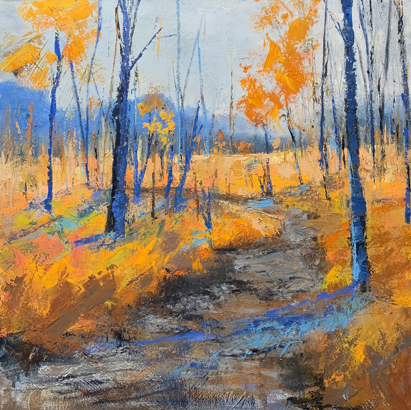 """""""Fall Hike"""", Oil on Canvas, 36 x 36"""
