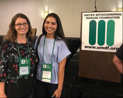 Romina with Jessica at the UMDF Conference