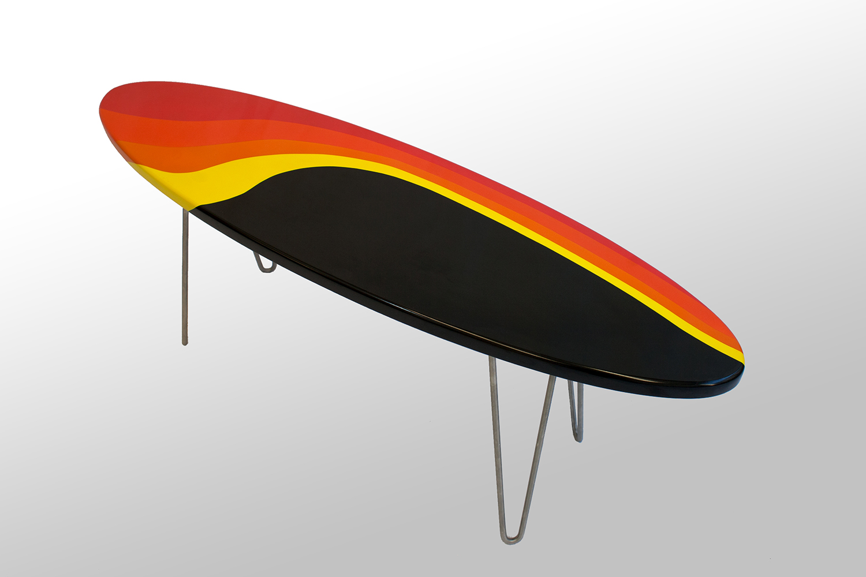 Custom Painted Longboard Coffee table
