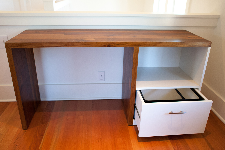 Teak & White Poplar Desk