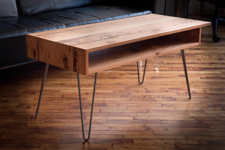 Mid-Century Modern Reclaimed Fir Coffee Table