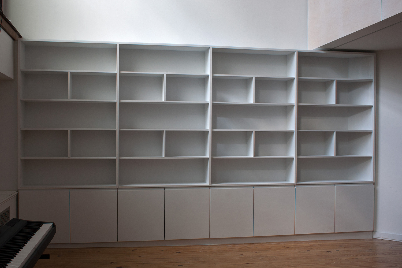 14 Foot White Bookcase