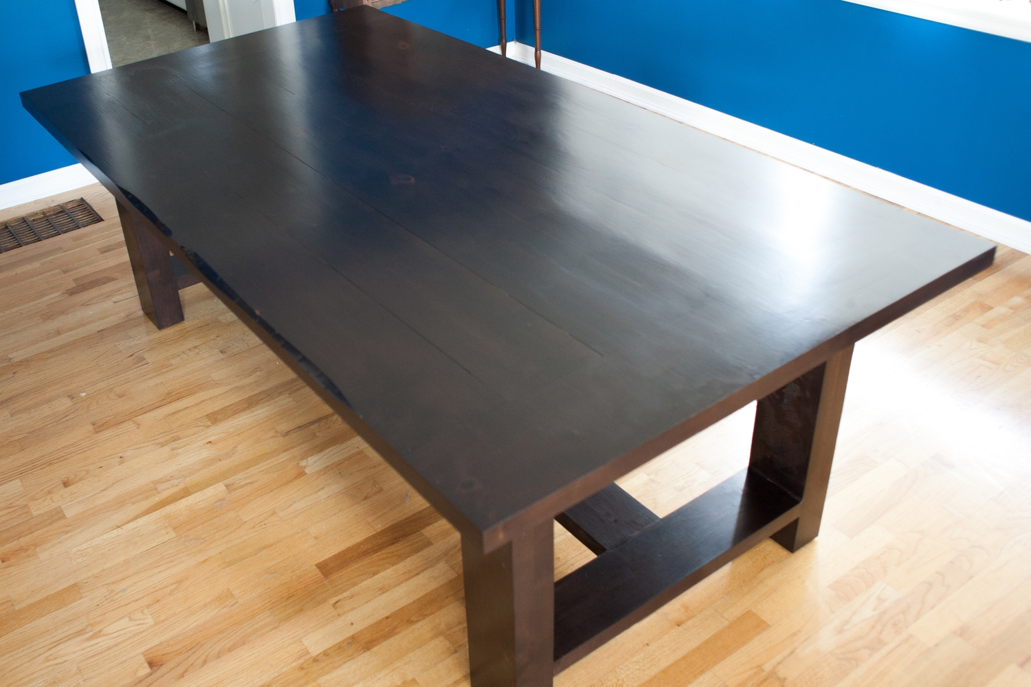 Stained Alder Farmhouse Table