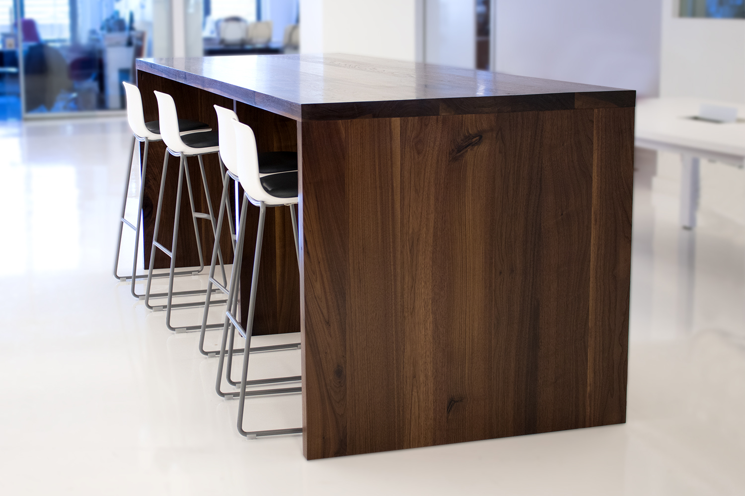 10 foot Walnut conference table