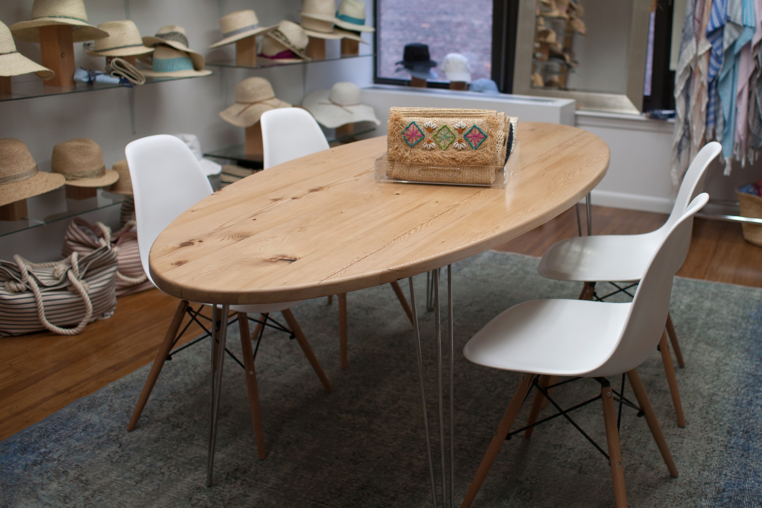 Reclaimed White Pine Oval Dining Table