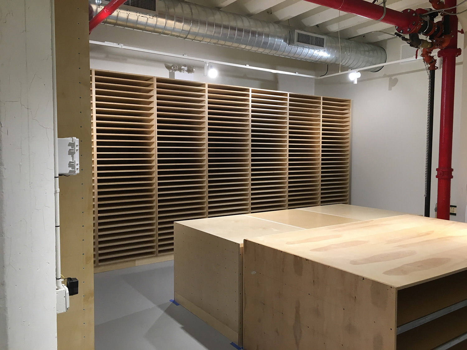 Flat file storage for Robert Motherwell's art work