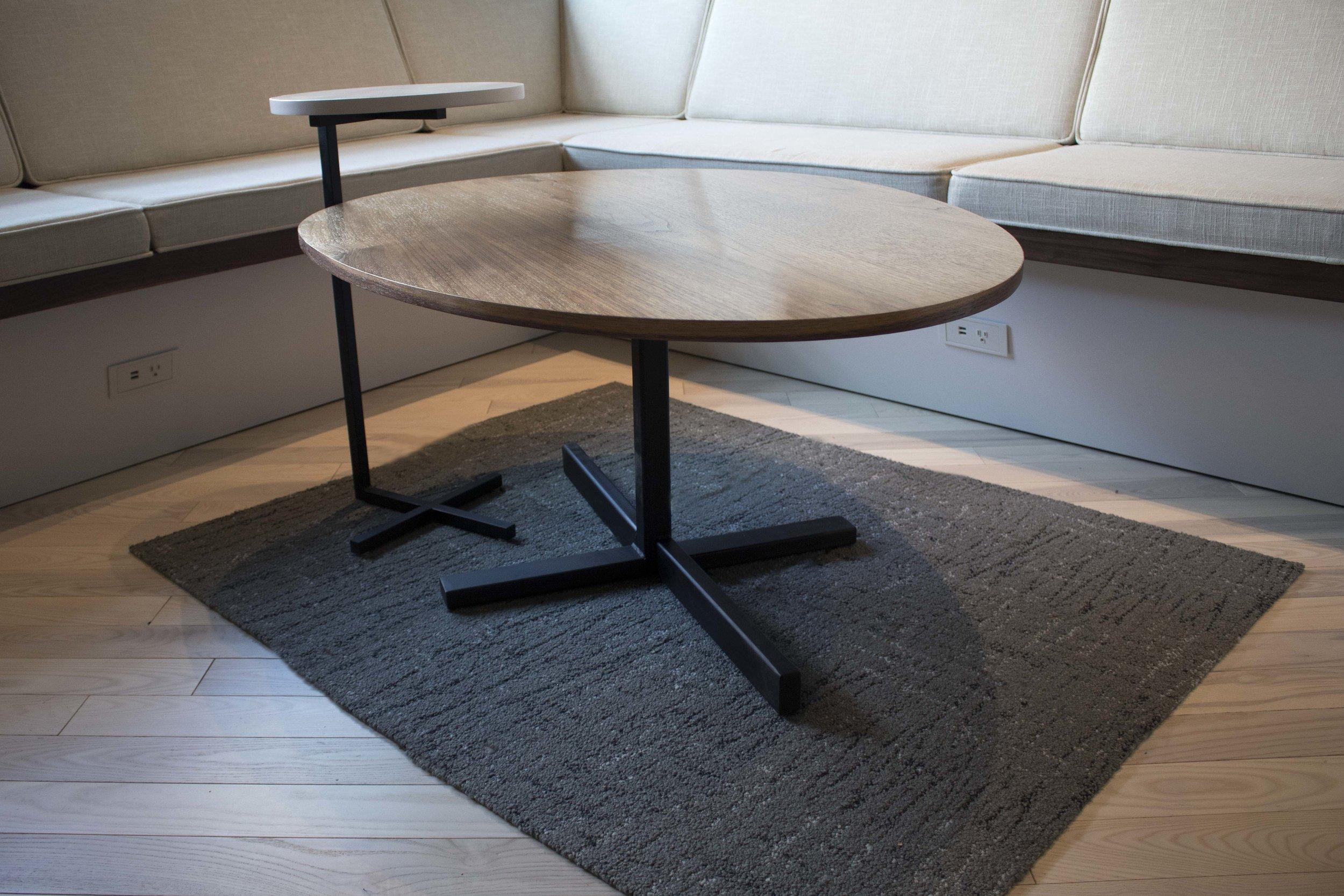 Walnut egg shape coffee table