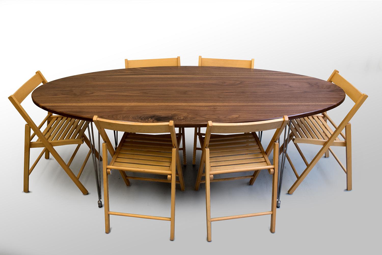 The Ellison Dining Table Walnut Grain Control Mid Century Modern Custom Furniture Brooklyn Ny