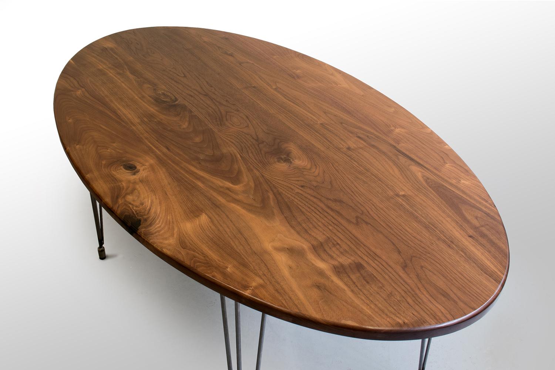 Right closeup Walnut oval kitchen table.jpg