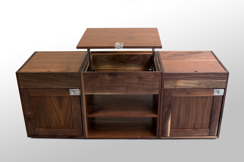 Three section Walnut coffee table high topup.jpg