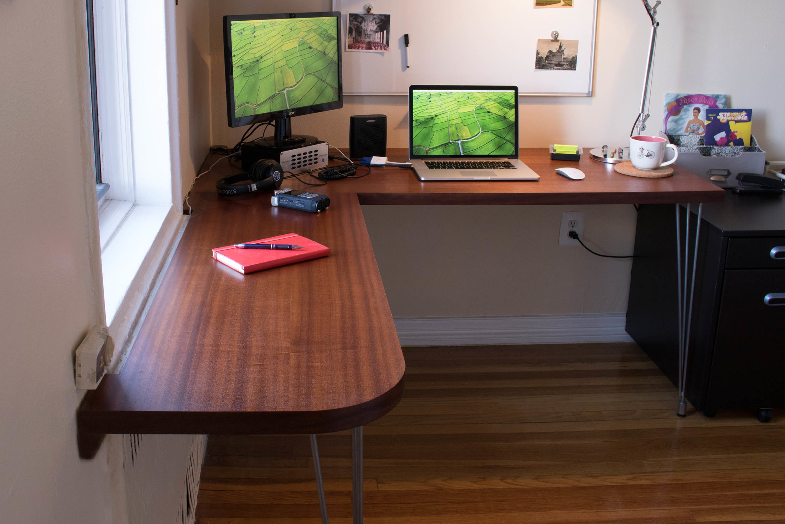 Sapele office desk