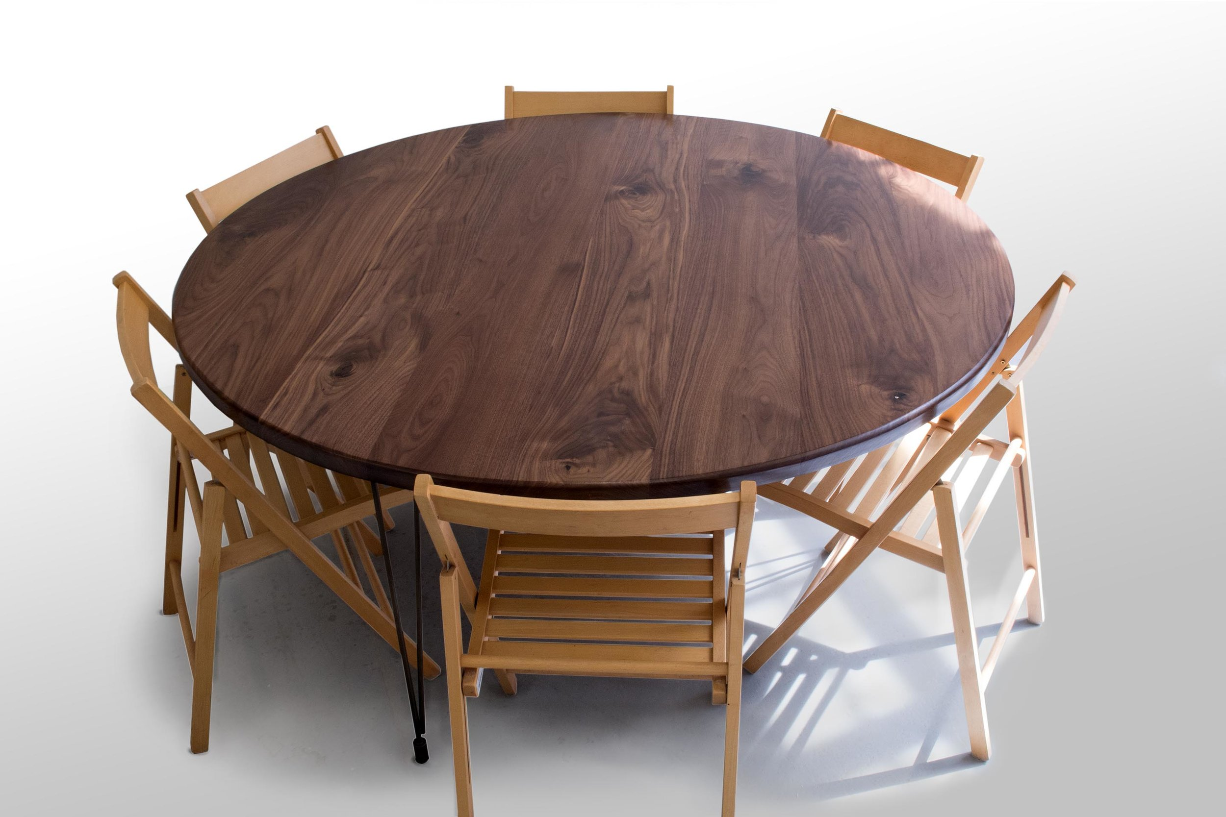62 inch round walnut table with chairs.jpg