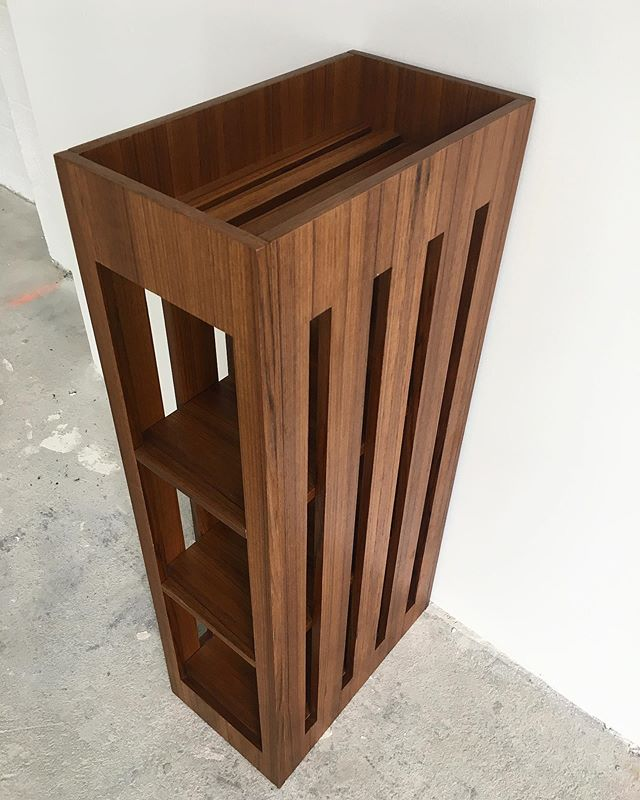Teak bathroom cubby ready to go out! What do you think?