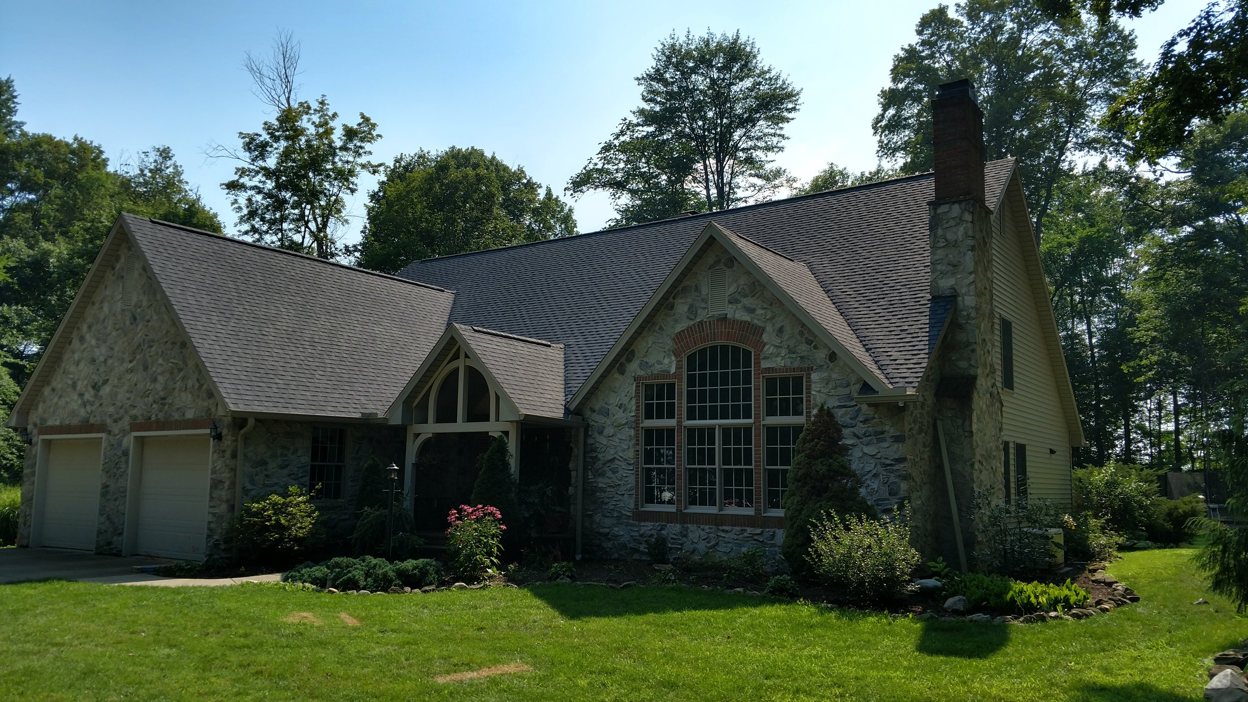 Roofing Installation near Wooster, Ohio.