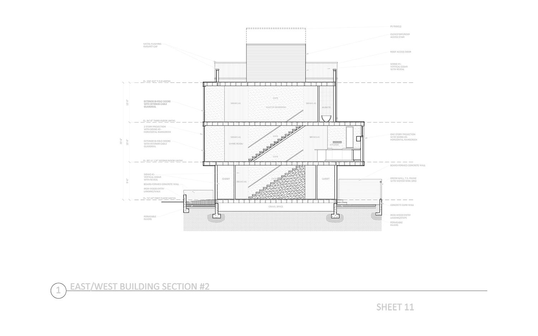 DD Set - E/W Building Section