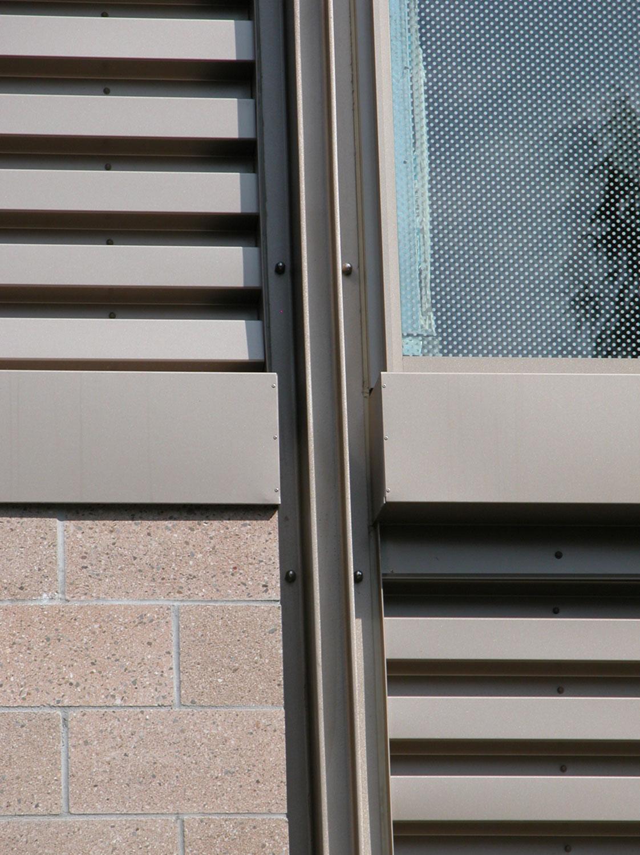Detail - Metal Panel/CMU