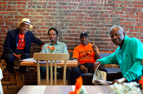 Community members gather at the Front Porch Cafe