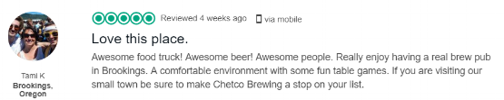 Click on the review to read others or leave your own on Trip Advisor