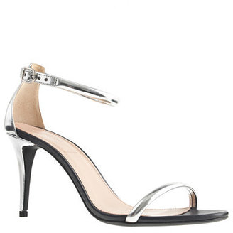 Jcrew Mixed Leather Strappy High Heel