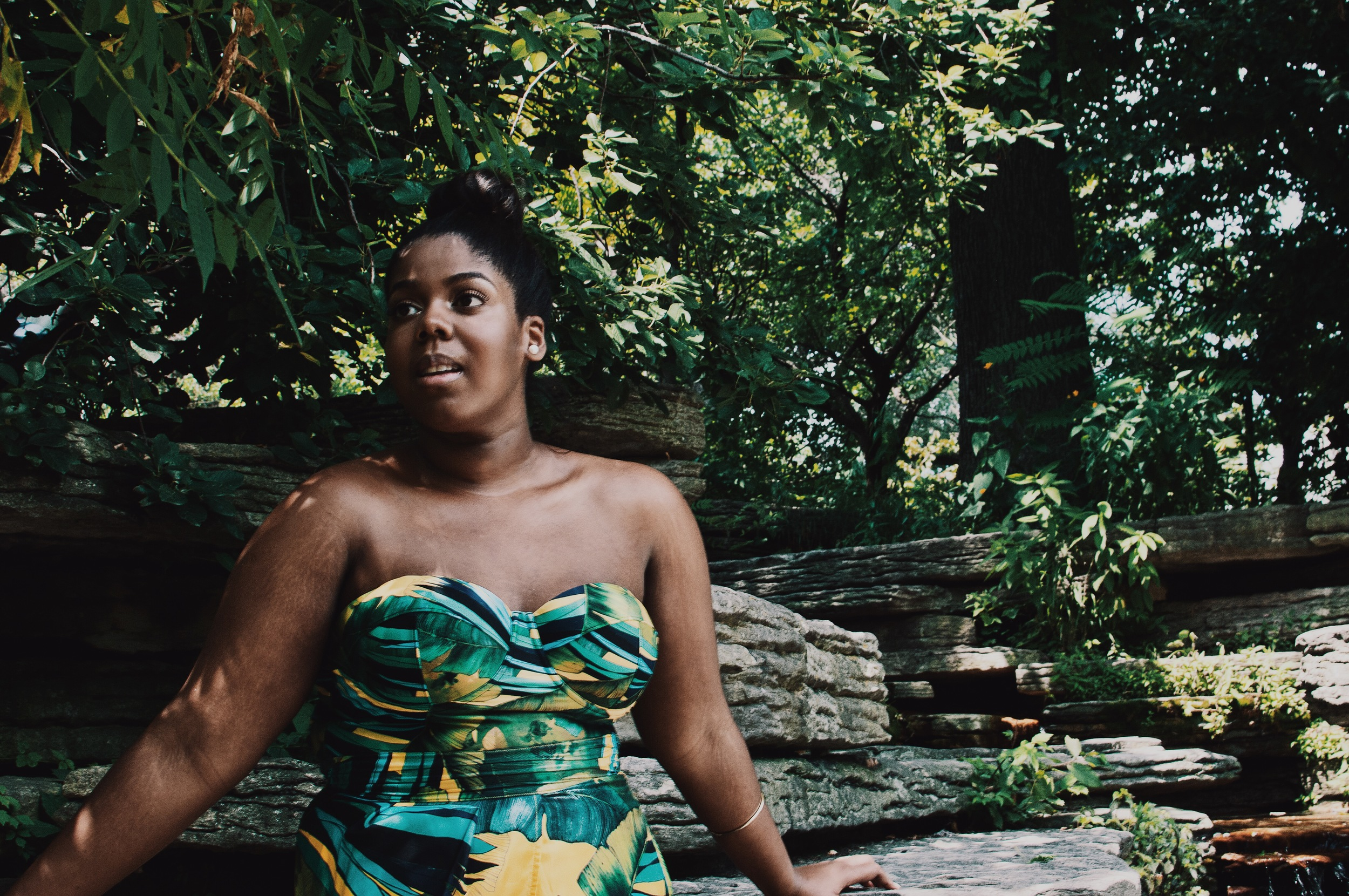 Jcrew Jungle Print Swimsuit Faux Tulip Wrap Skirt Double strap Heel Sandals Ikat Print Plus size Blogger Orne Jewelry Ghana THat Hayet Rida 6.jpeg