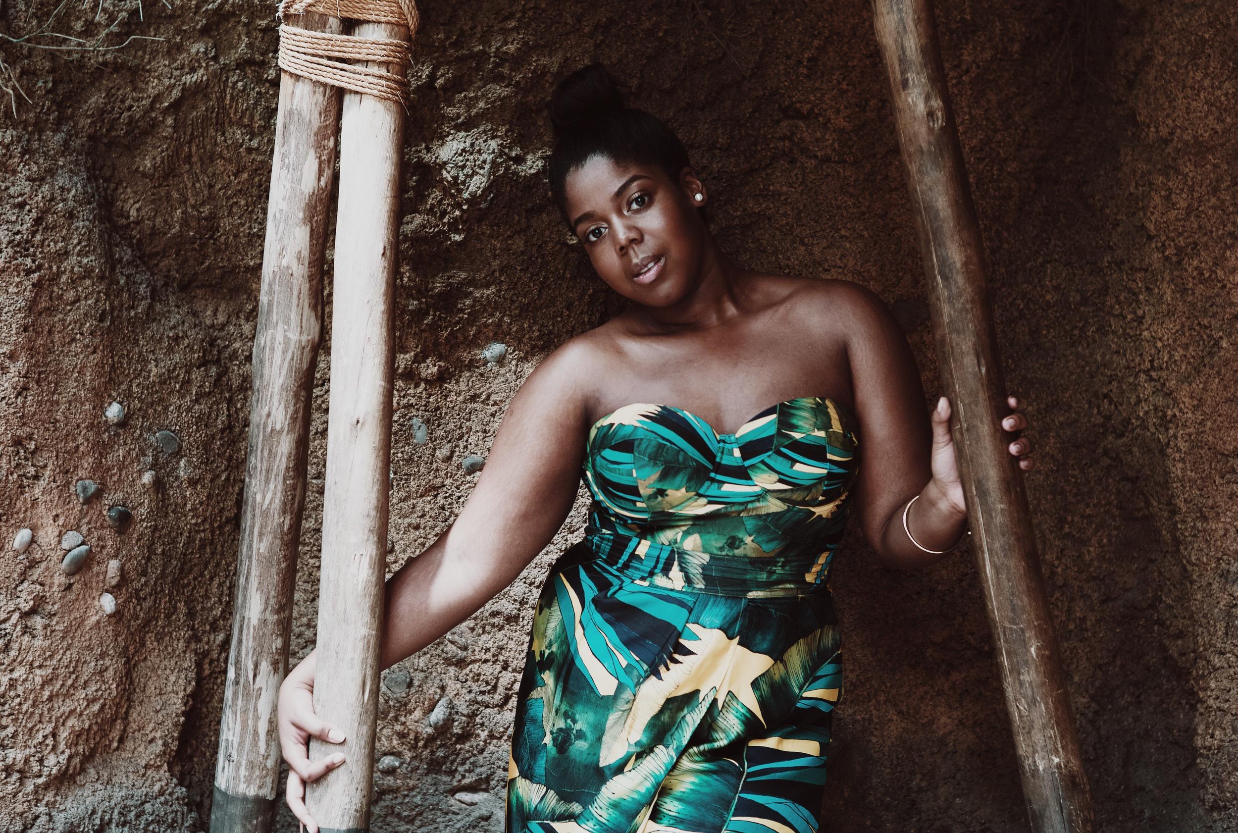 Jcrew Jungle Print Swimsuit Faux Tulip Wrap Skirt Double strap Heel Sandals Ikat Print Plus size Blogger Orne Jewelry Ghana THat Hayet Rida 1.jpeg