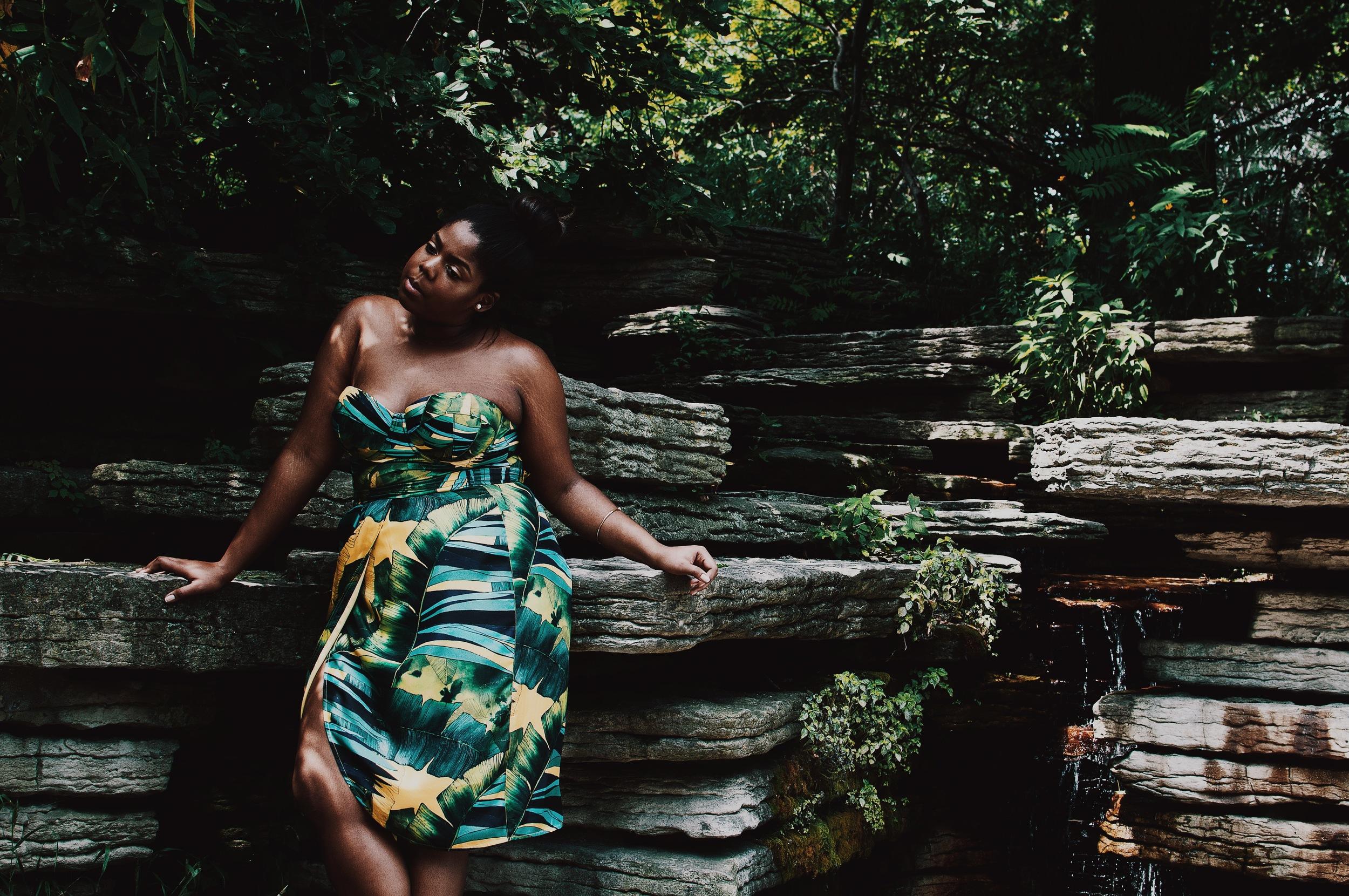 Jcrew Jungle Print Swimsuit Faux Tulip Wrap Skirt Double strap Heel Sandals Ikat Print Plus size Blogger Orne Jewelry Ghana THat Hayet Rida 5.jpeg