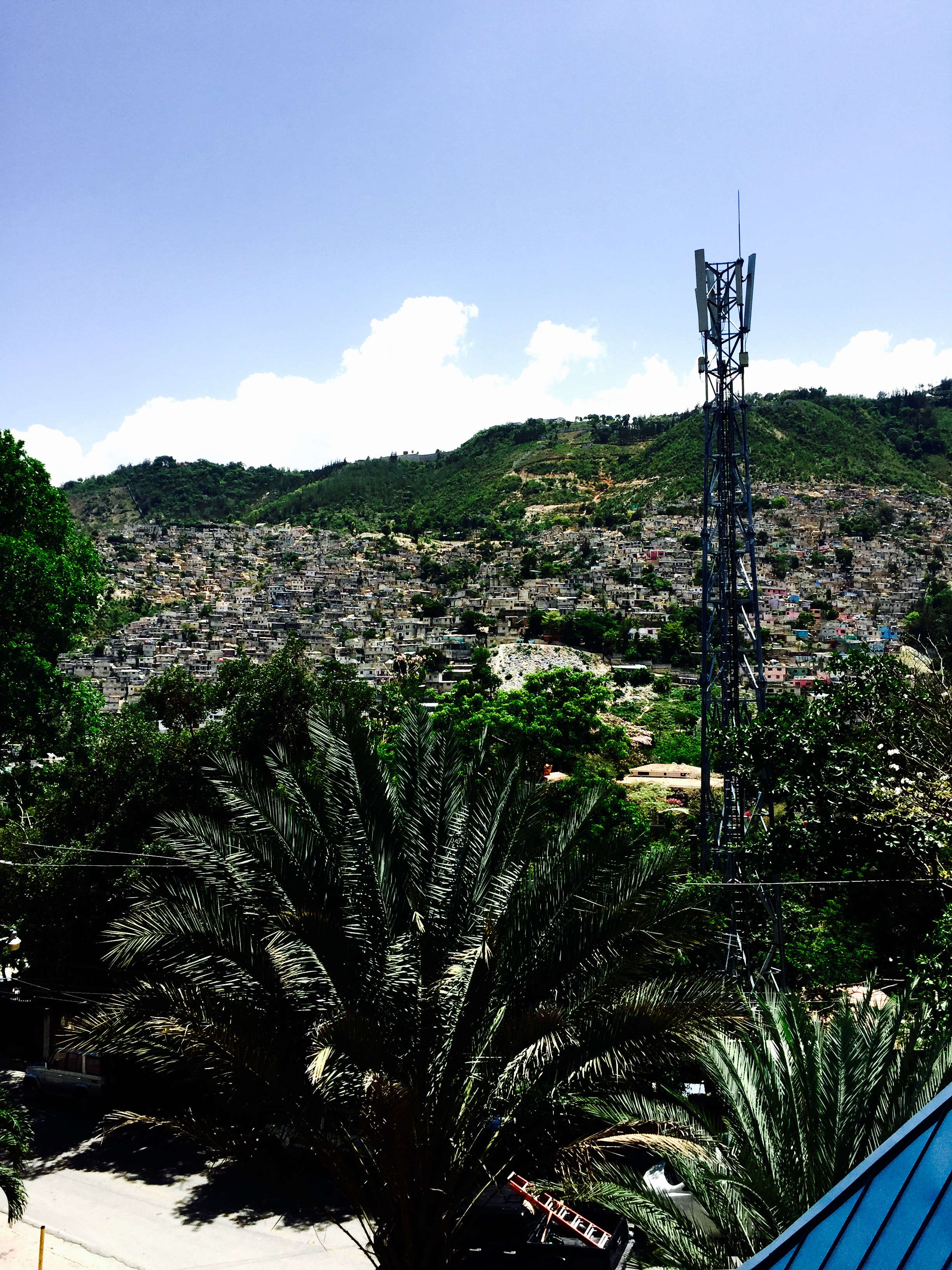 The Hills Have Eyes - A shot of the Haitian slums that lit up at night and forced me to sleep with the lights on.
