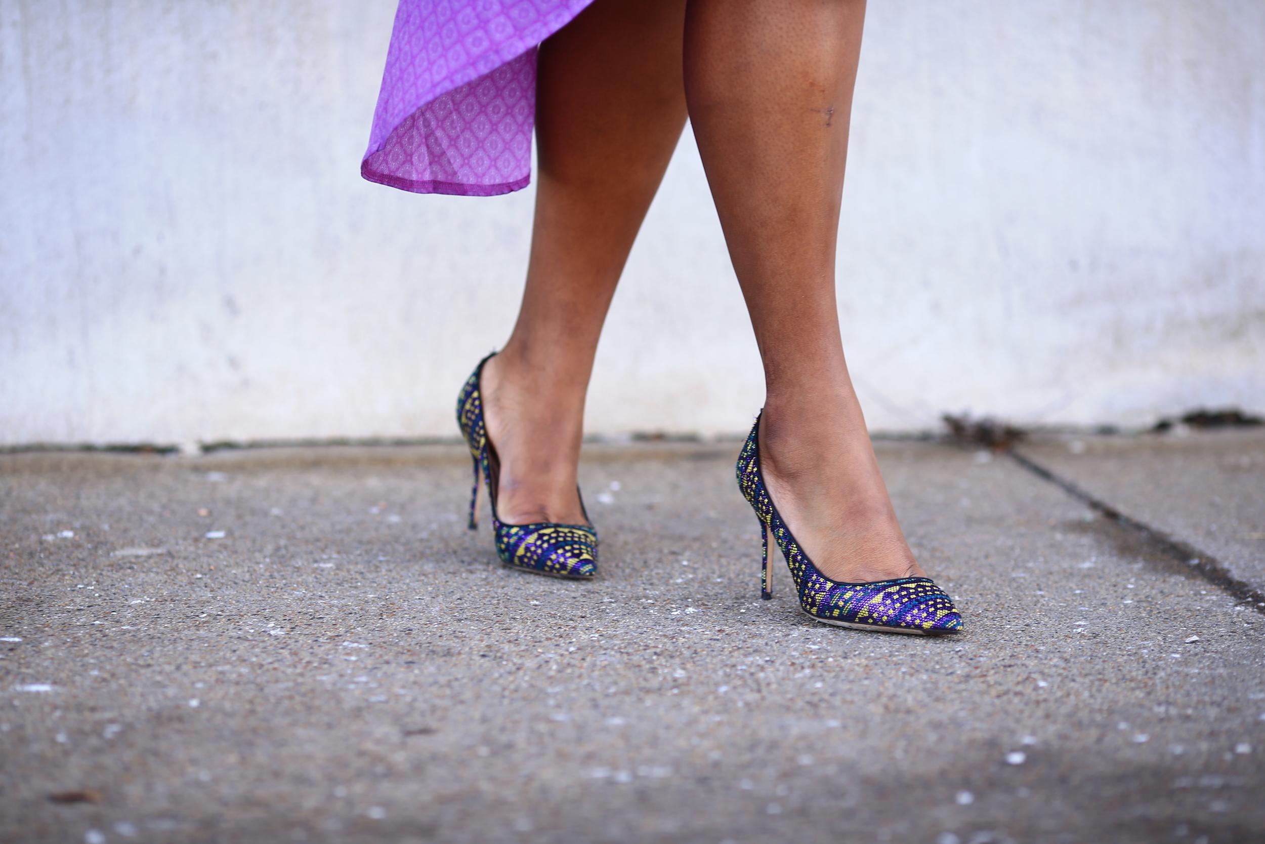 Hayet Rida Plus Size Style Twelve North Purple Dress Jcrew Shoes  8.JPG
