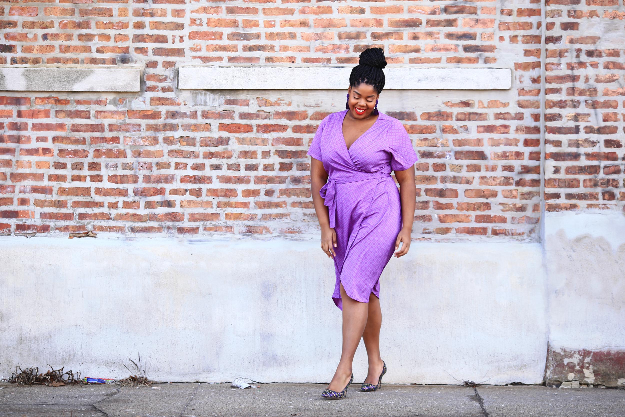 Hayet Rida Plus Size Style Twelve North Purple Dress Jcrew Shoes 1.jpg