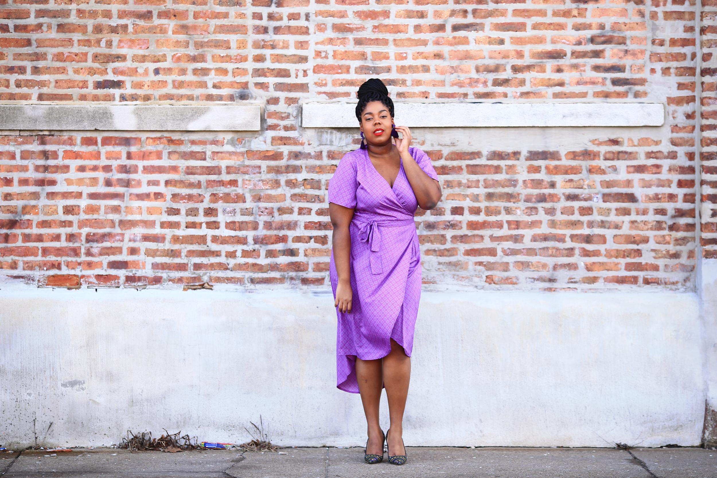 Hayet Rida Plus Size Style Twelve North Purple Dress Jcrew Shoes 4.jpg