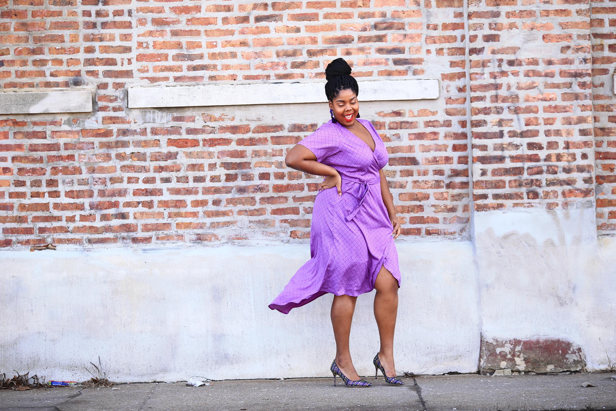 Hayet Rida Plus Size Style Twelve North Purple Dress Jcrew Shoes 7 copy.JPG