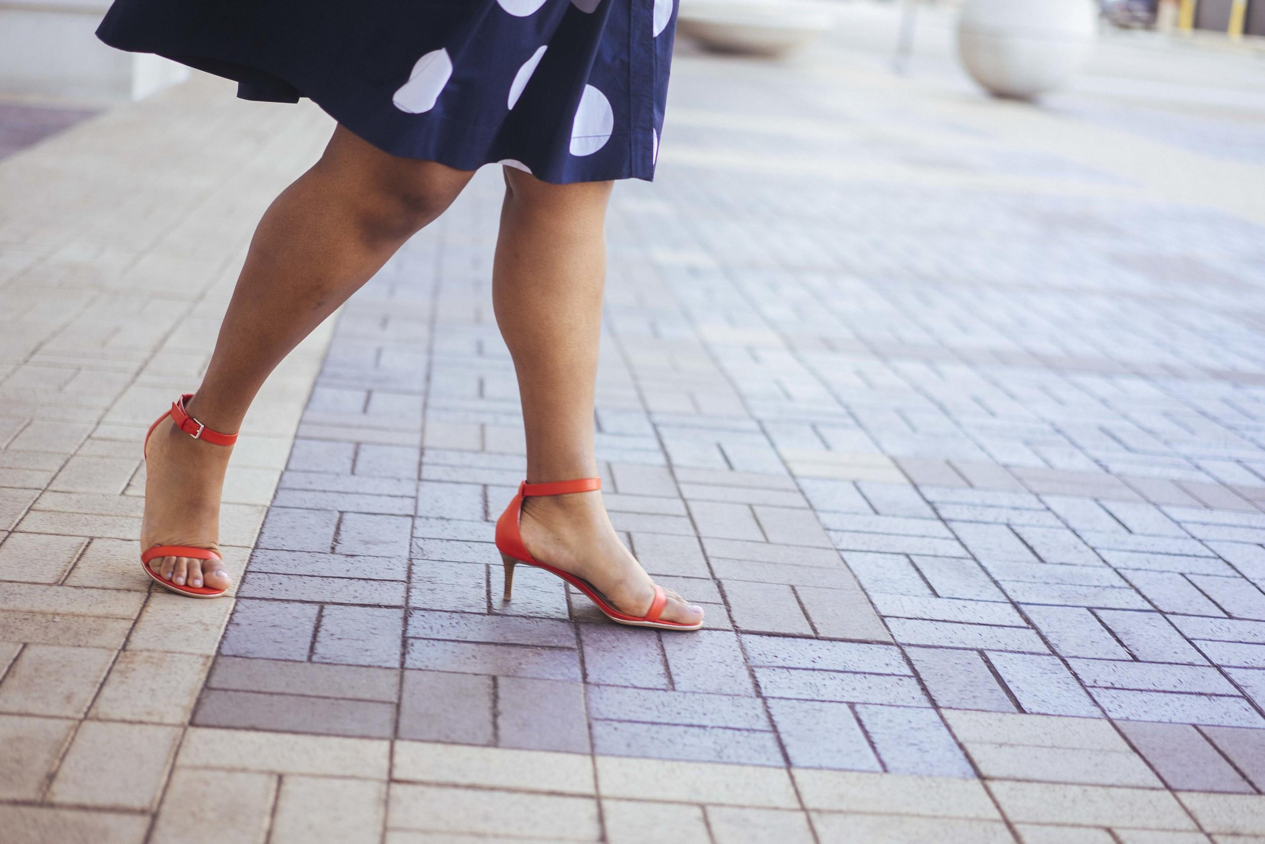 That Hayet Rida Talbots Nautical Striped Blazer Polka dot Dress Pearl Bangles Red Bag Plus Size Looks Blogger 1.jpg