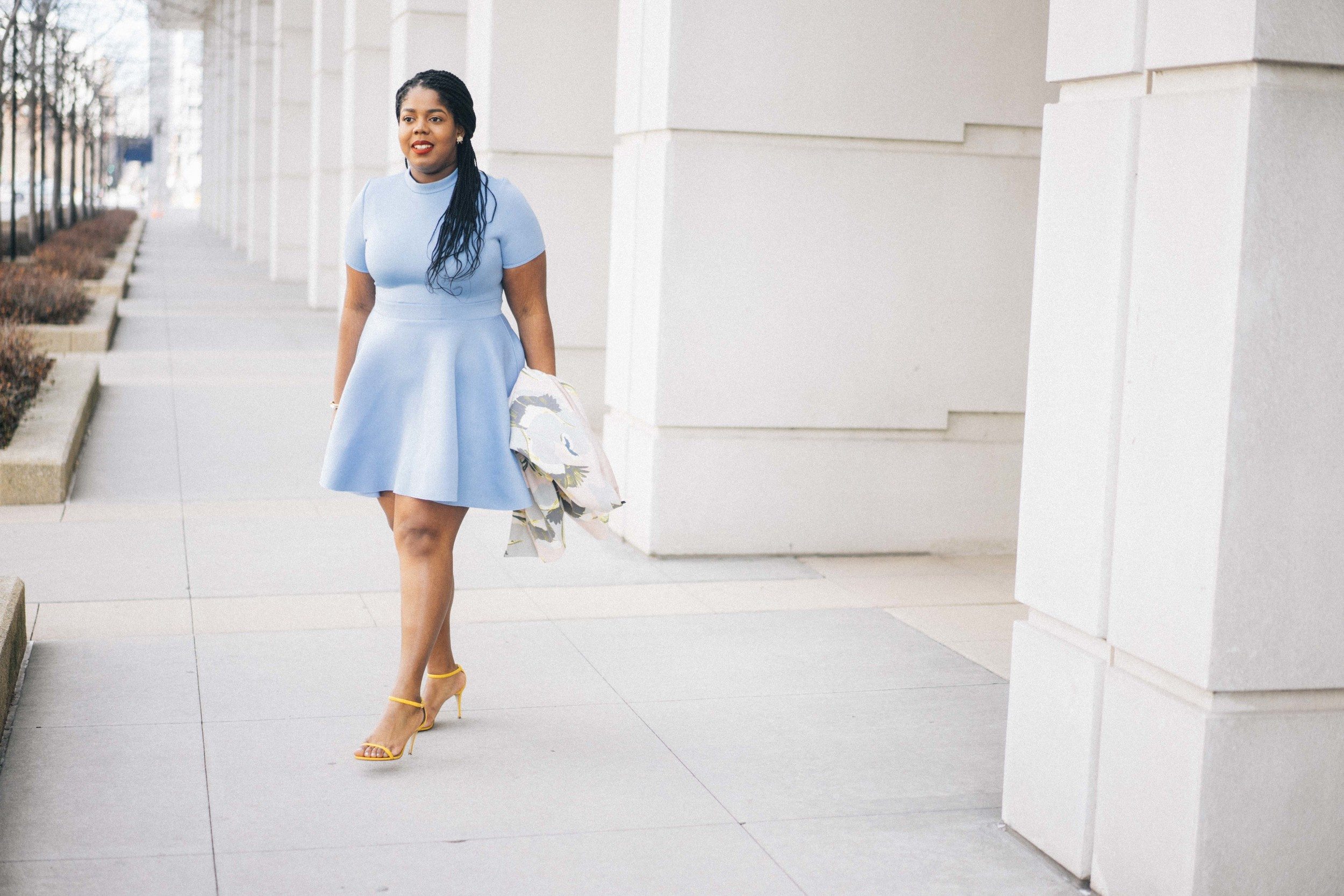 That Hayet Rida Plus Size Fix Skater Dress Blue   9.jpg