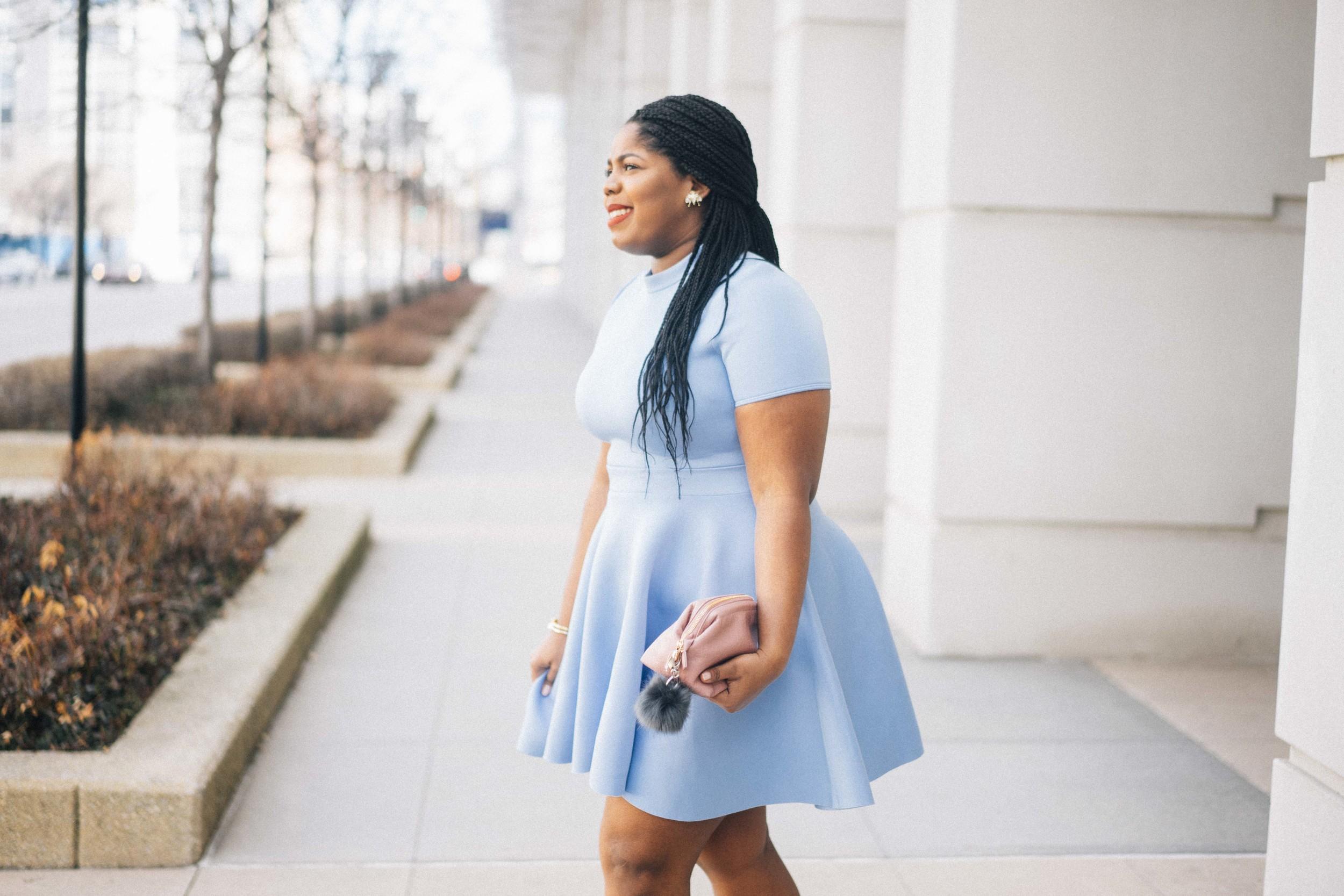 That Hayet Rida Plus Size Fix Skater Dress Blue  2.jpg
