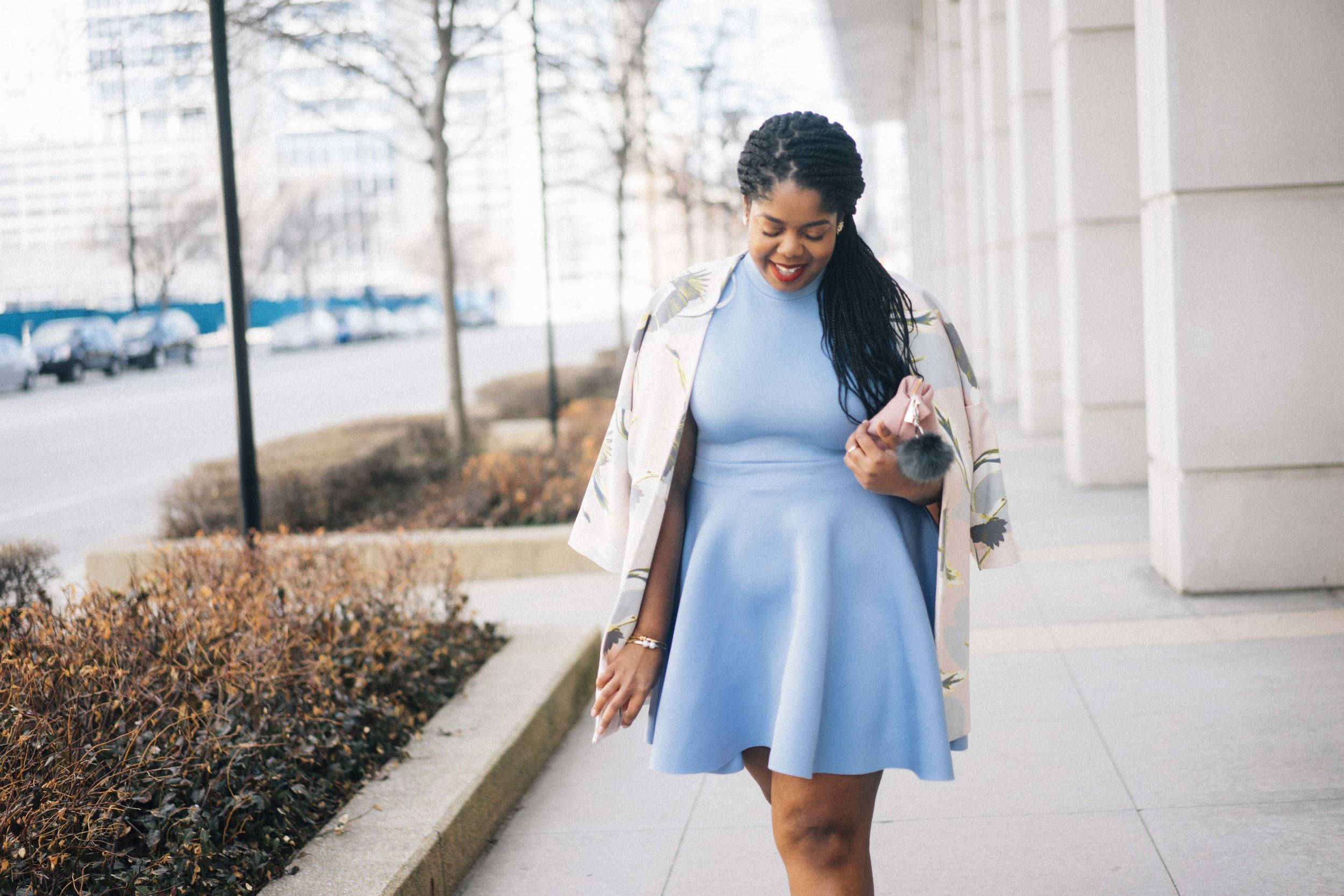 That Hayet Rida Plus Size Fix Skater Dress Blue  14.jpg