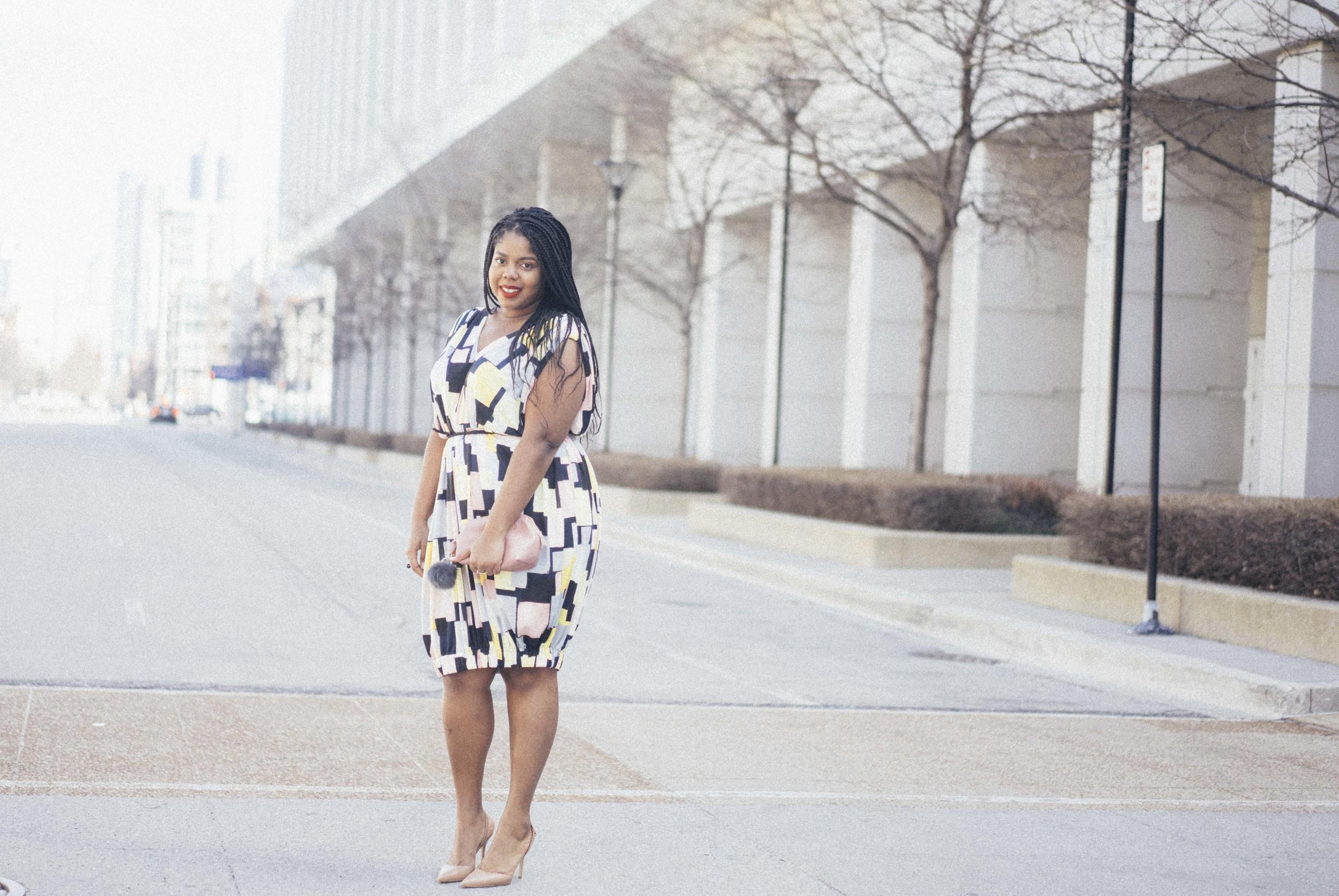 Beth Ditto Hayet Rida Print Bubble Dress Plus Size Blogger Style Chicago 3.jpg