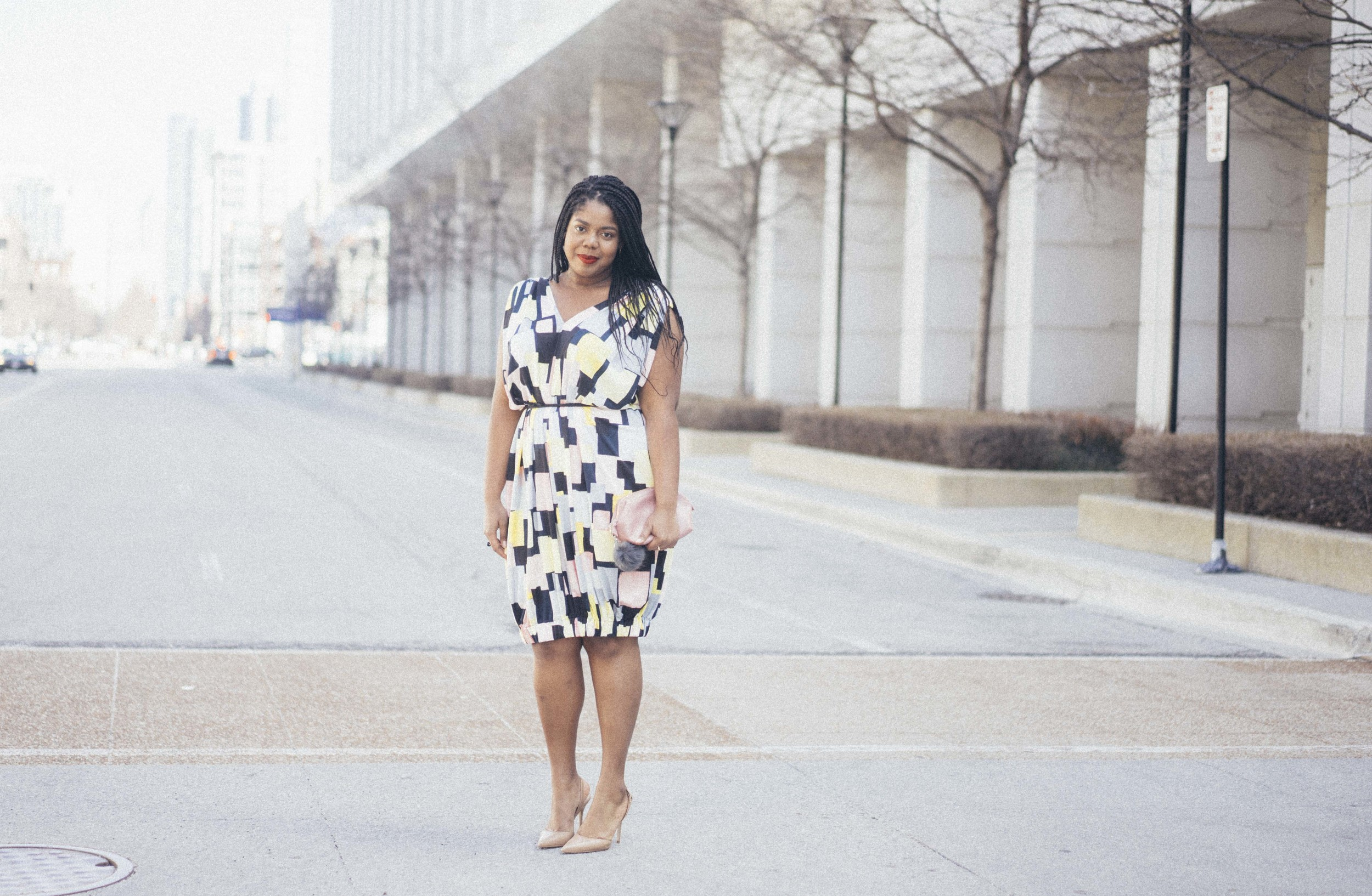 Beth Ditto Hayet Rida Print Bubble Dress Plus Size Blogger Style Chicago 5.jpg